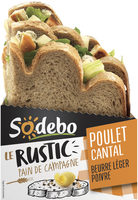 Le Rustic - Poulet rôti Cantal Beurre léger et Poivre - Produit - fr