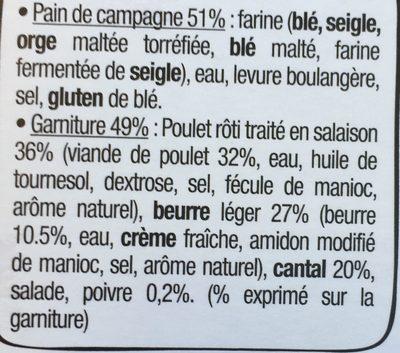 Le Rustic - Poulet rôti Cantal Beurre léger et Poivre - Ingrédients - fr