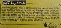 Sodebo Pizza Crust - Buffalo bœuf épicé poivrons grillés - Ingredientes