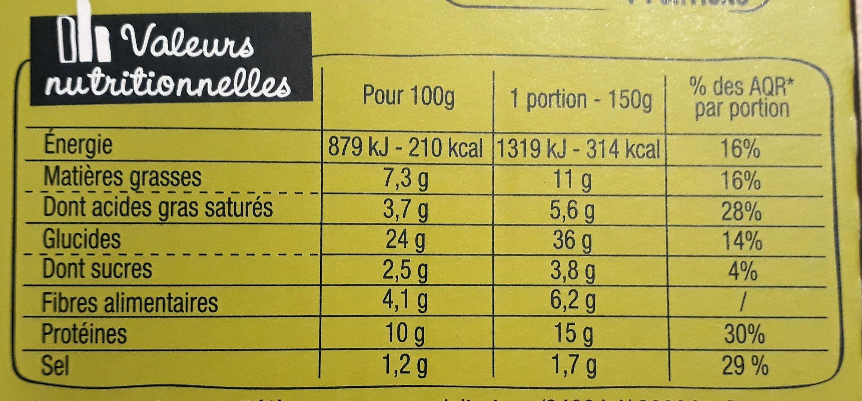 Sodebo Pizza Crust - Buffalo bœuf épicé poivrons grillés - Información nutricional