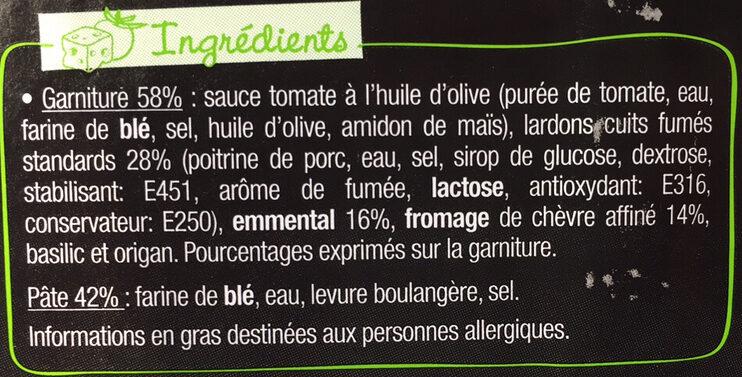 L'Ovale - Chèvre affiné & Lardons - Ingrédients - fr