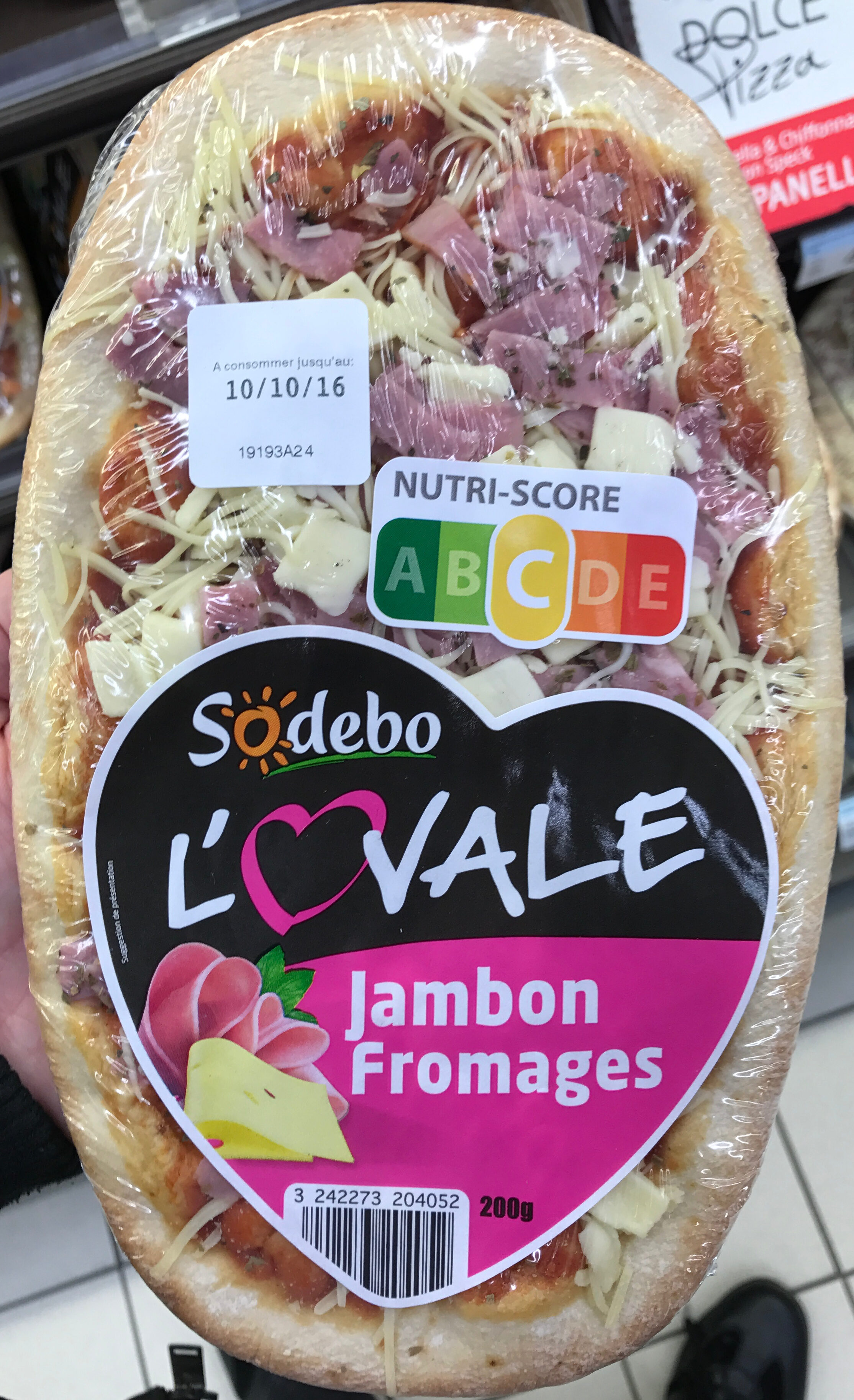 Sodebo L'Ovale Jambon Fromages - Product