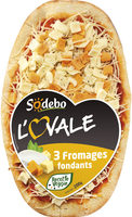 Sodebo L'Ovale 3 fromages fondants - Product - fr