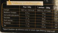 Sodebo L'Ovale 3 fromages fondants - Nutrition facts