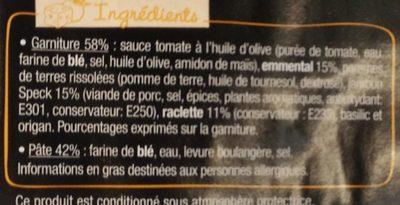 L'Ovale - Jambon speck Raclette - Ingrédients - fr