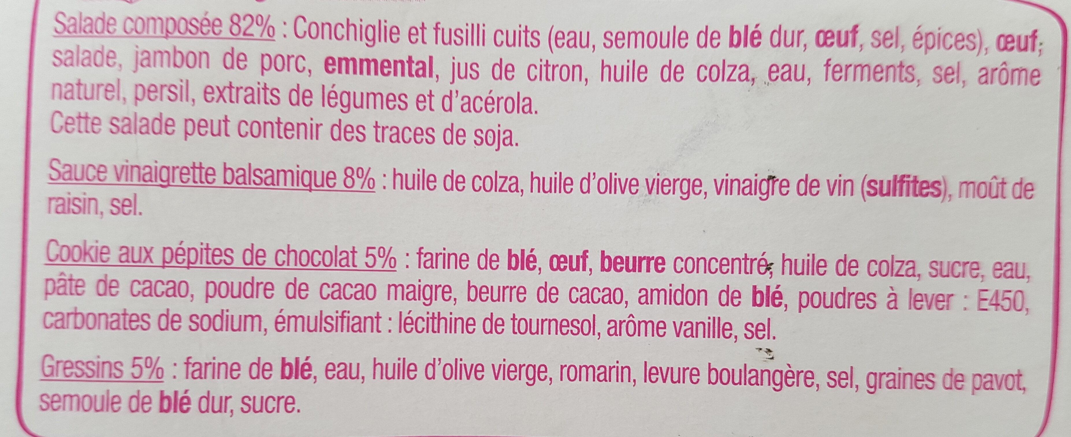 Salade & Compagnie - Montmartre - Ingrediënten - fr