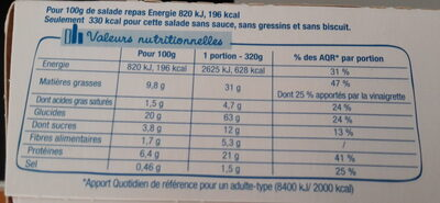 Salade & Compagnie - Antibes - Informations nutritionnelles - fr