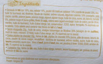 Salade & Compagnie - Marrakech - Ingrédients - fr