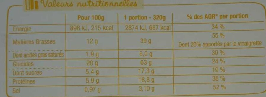 Salade & Compagnie - Marrakech - Informations nutritionnelles - fr