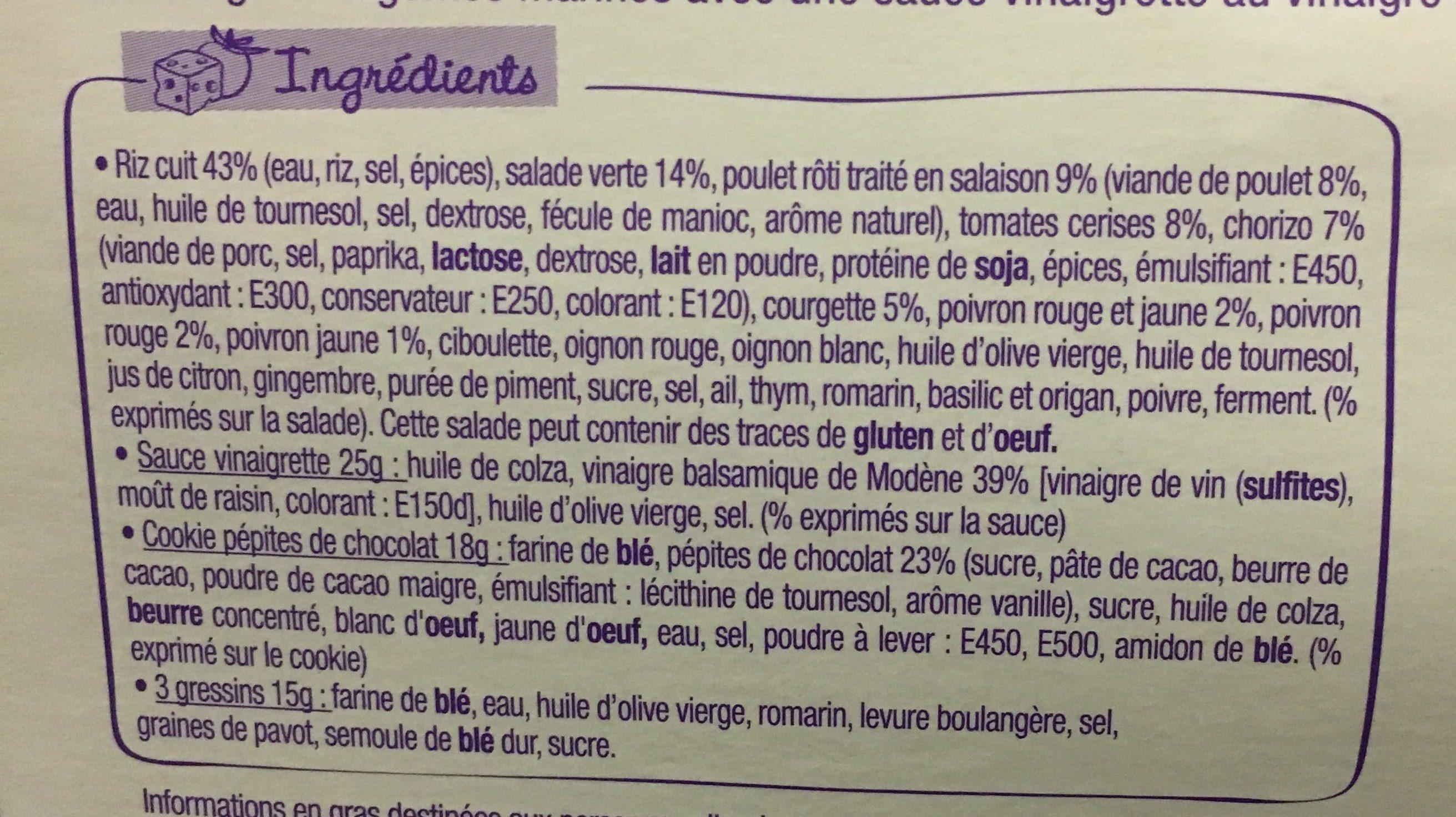 Salade & compagnie - Ingrédients