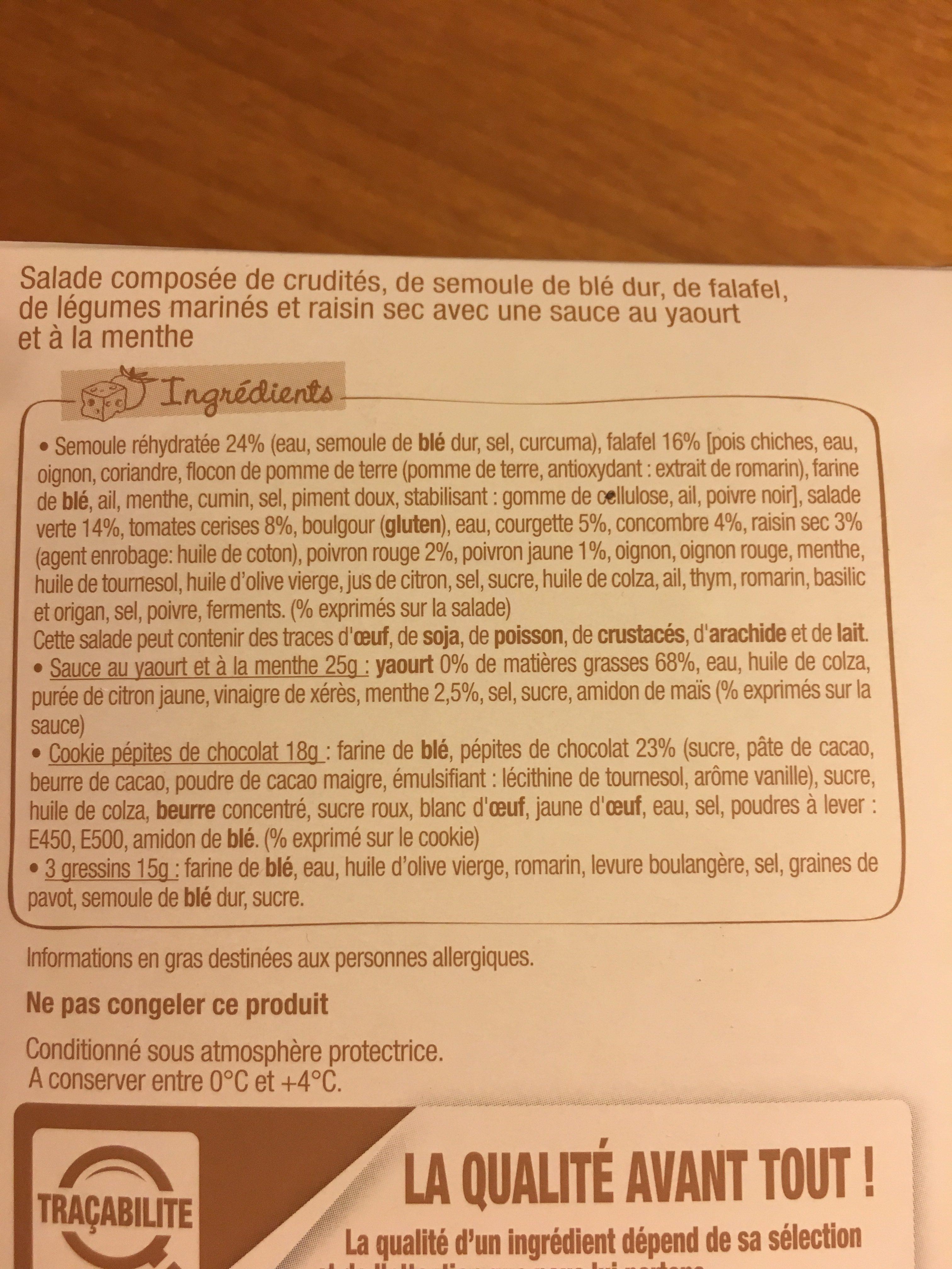 Salade & Compagnie - Libanaise - Ingrédients - fr