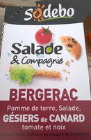 Salade & Compagnie Bergerac : Pommes de terre, Salade, Gésiers de Canard, Tomate et Noix - Produit - fr