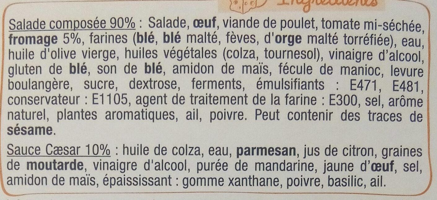 Mon atelier salade - Poulet caesar - Ingredients