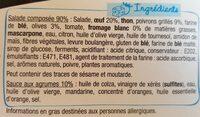 Salade rillettes de thon légumes marinés - Ingrédients