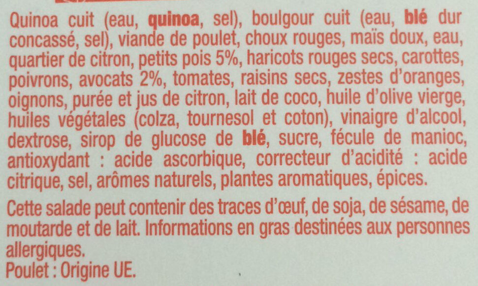 Salad' bowl inca - Ingredienti - fr