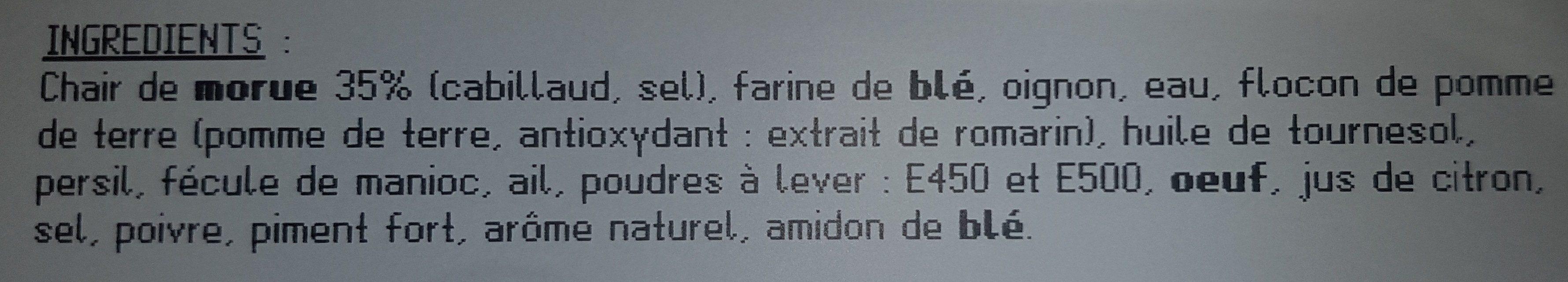 Acras à la Morue - Ingrédients - fr