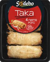 Taka - 4 Nems porc - Produit - fr