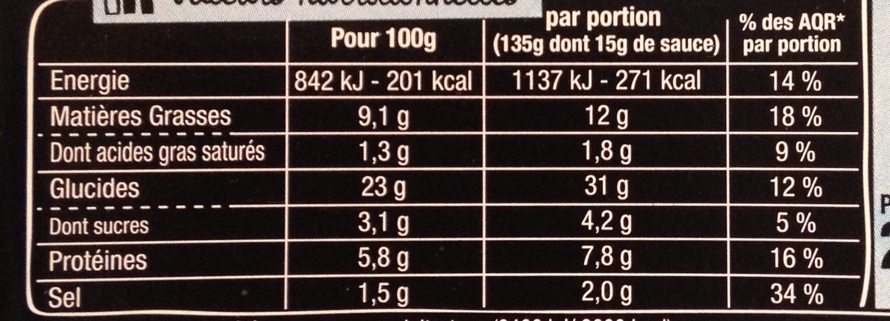 Taka - 4 Nems à la Crevette - Nutrition facts - fr