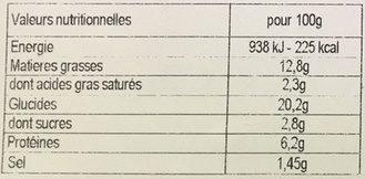 4 nems poulet 75g - Nutrition facts