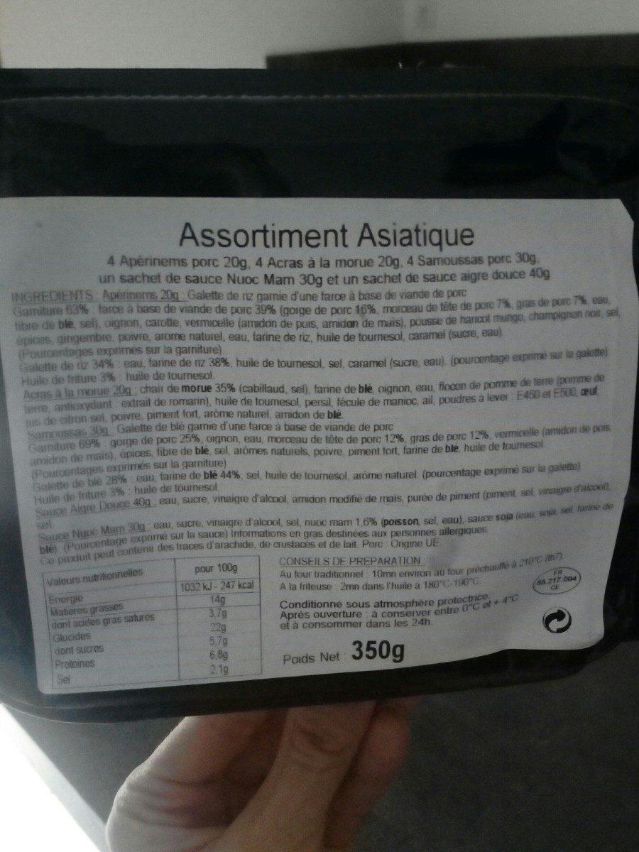Assortiment Asiatique - Ingrédients - fr