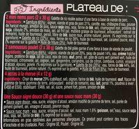 Taka - Plateau Découverte - Ingrédients