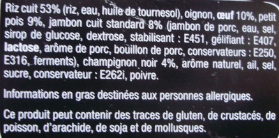 Taka - Riz cantonais - Ingredients - fr