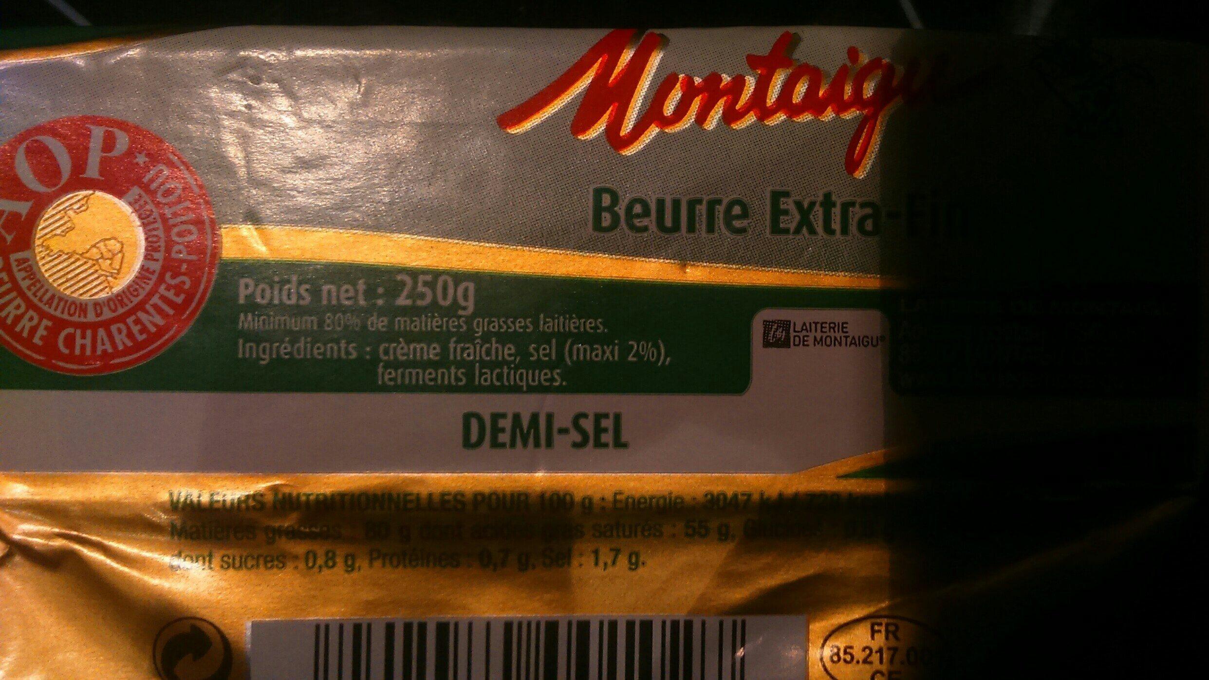 Beurre extra-fin - Ingrédients - fr