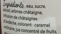 Crème de châtaigne d'Ardèche - Ingrédients - fr