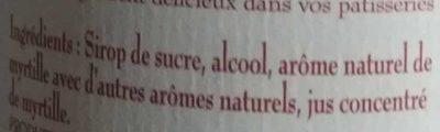 Creme Myrtille 70CL - Ingredients - fr