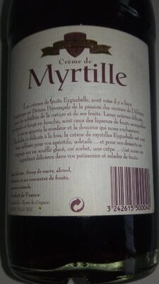 Creme Myrtille 70CL - Nutrition facts - fr