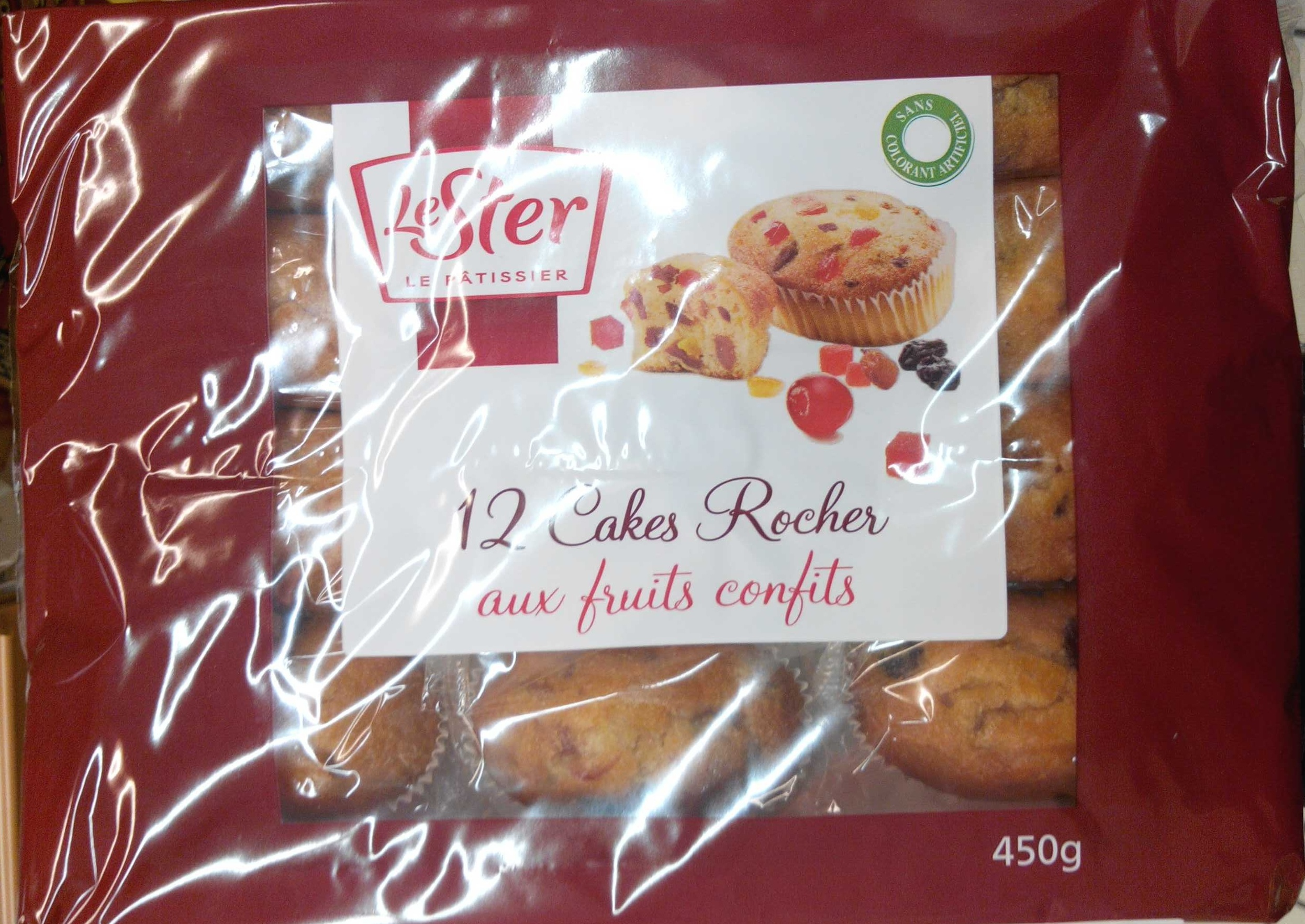 12 cakes rocher aux fruits confits - Product
