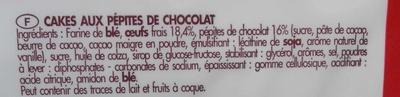 12 Cakes Rocher Pépites de Chocolat - Ingrédients