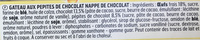 Pépites Choc' Nappage Choco - Ingrediënten