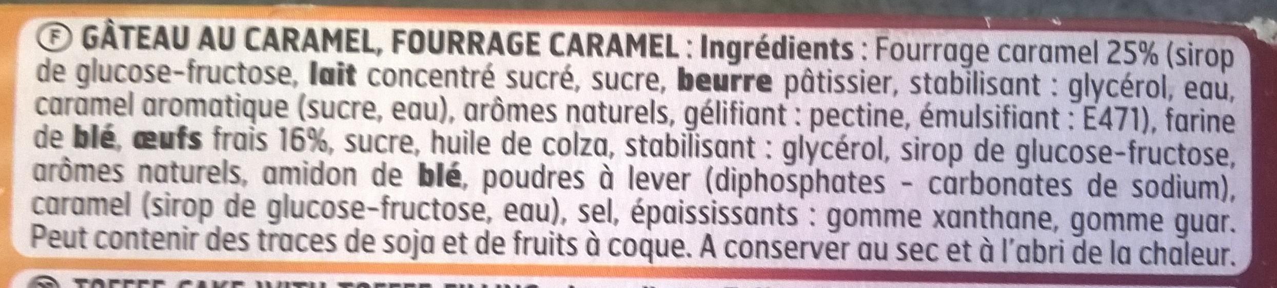 Goûters Tout caramel - Ingrédients - fr