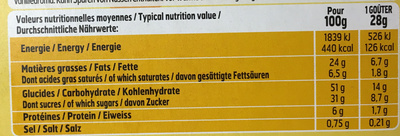 Tout chocolat nappage choco - Informations nutritionnelles - fr