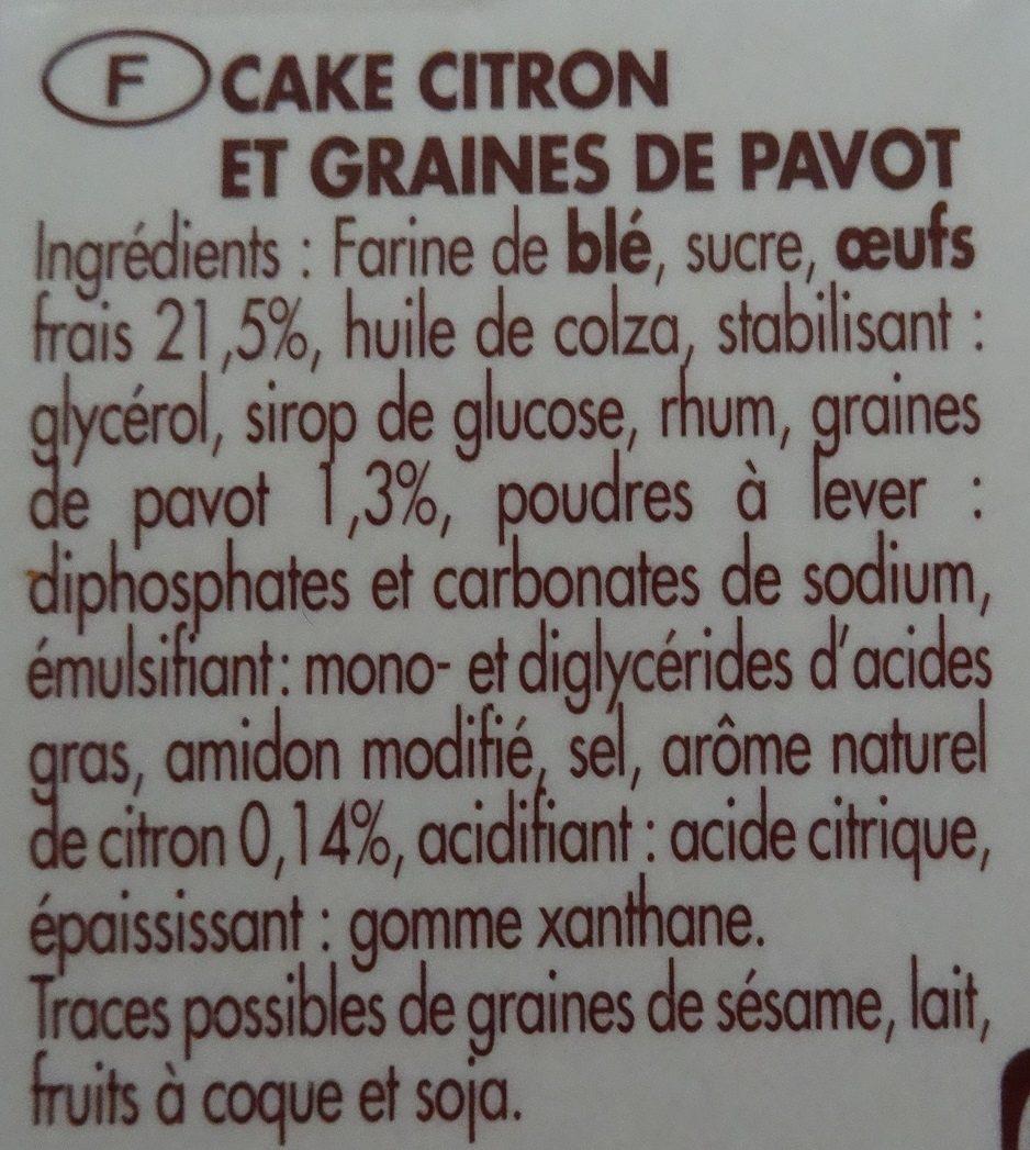 Cake Citron-Pavot - Ingredients - fr