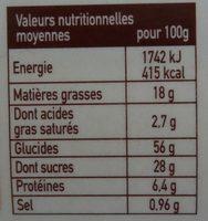 Cake Citron-Pavot - Nutrition facts - fr