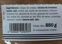Breizh Granola Mademoiselle Breizh 250 G - Ingrédients
