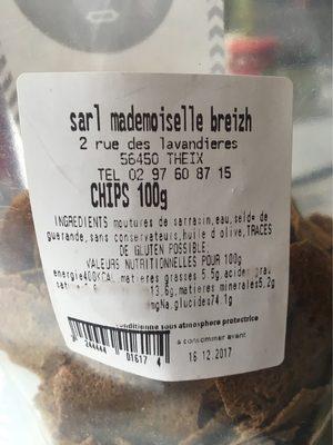 Chips de Sarrasin 100% Blé Noir - Nutrition facts