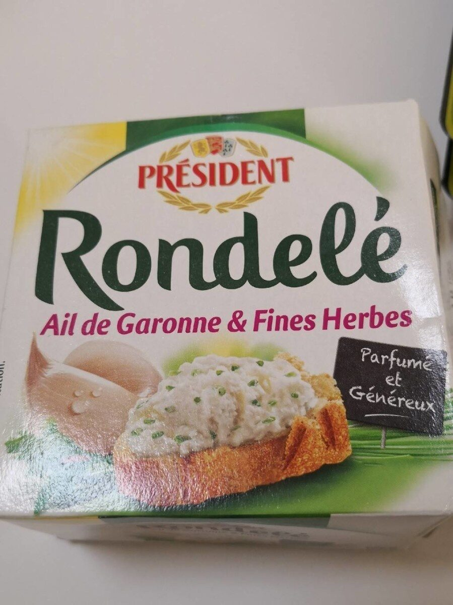 Rondel Ail de Garonne & Fines Herbes - Informations nutritionnelles - fr