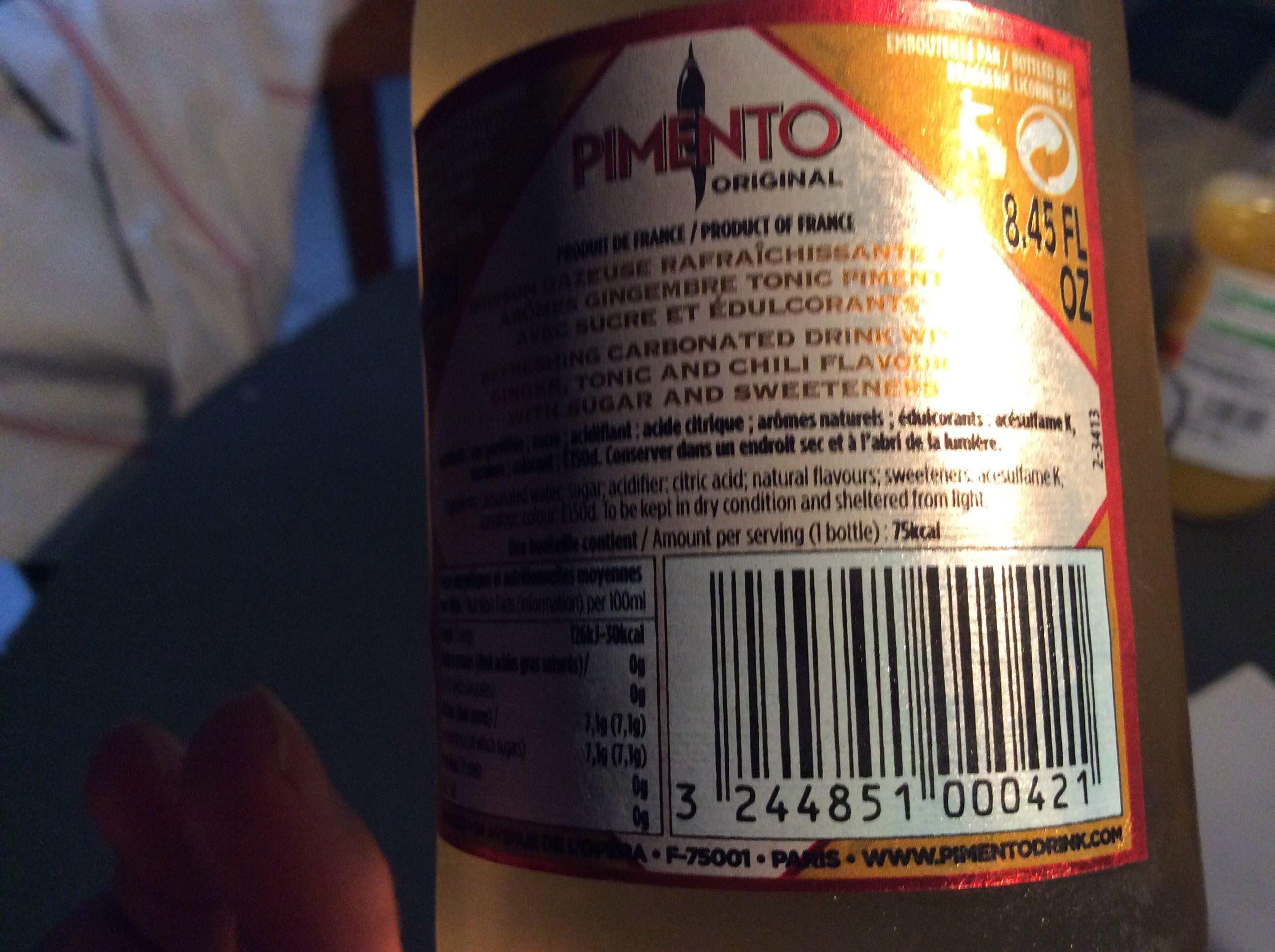 Pimento Original - Produit - fr