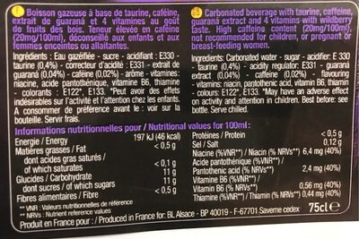 Purple party - Nutrition facts - fr