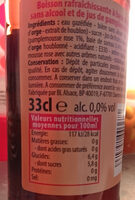 Zest 0,0% - Informations nutritionnelles