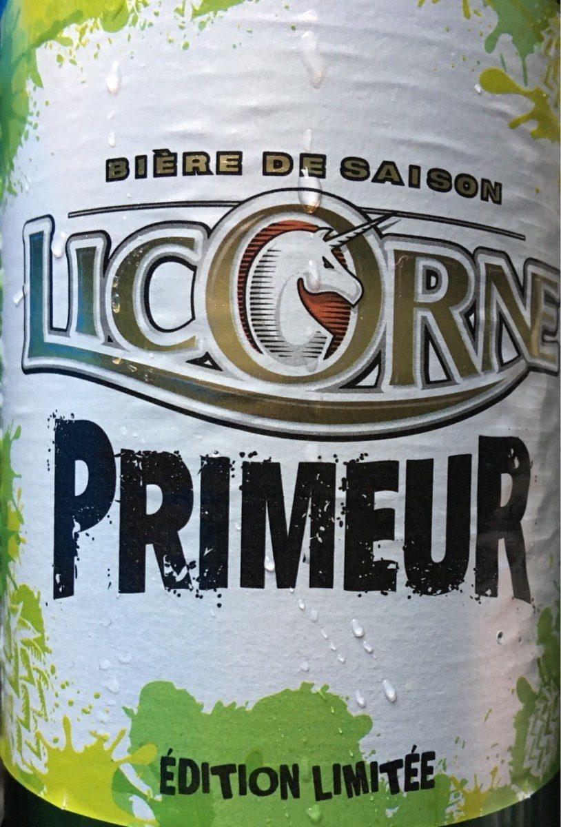 Biere Licorne primeur - Produit