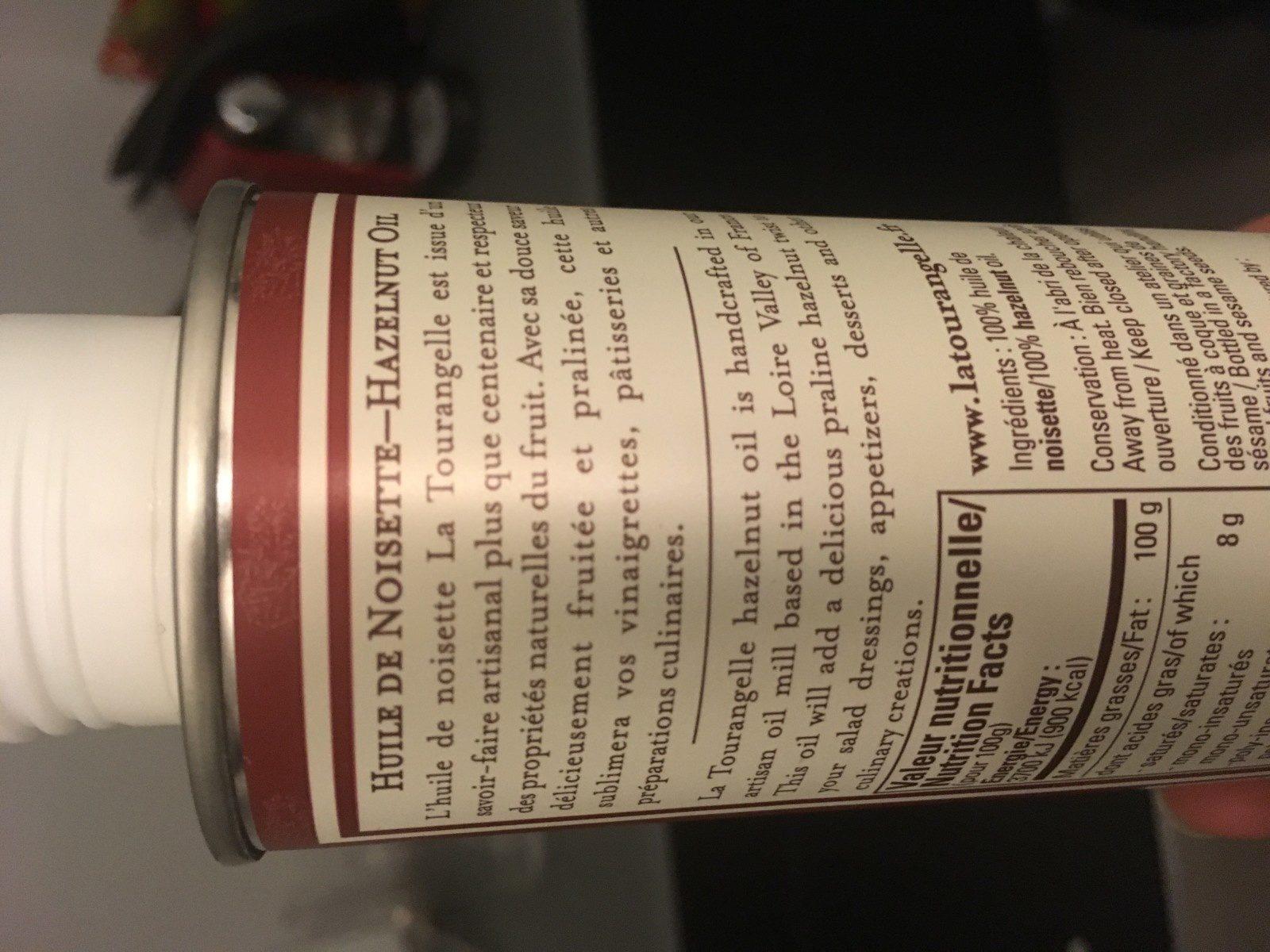 Huile de noisette - Ingredients - fr
