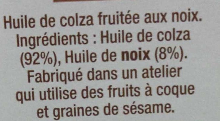 Huile de colza fruitée aux noix - Ingrediënten - fr