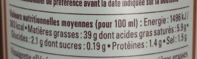 La Vinaigrette sesame soja - Nutrition facts