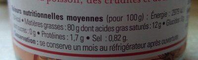 Mayonnaise à l'huile de Sésame - Nutrition facts - fr