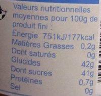 Mandarine Jus de Passion allégée - Informations nutritionnelles
