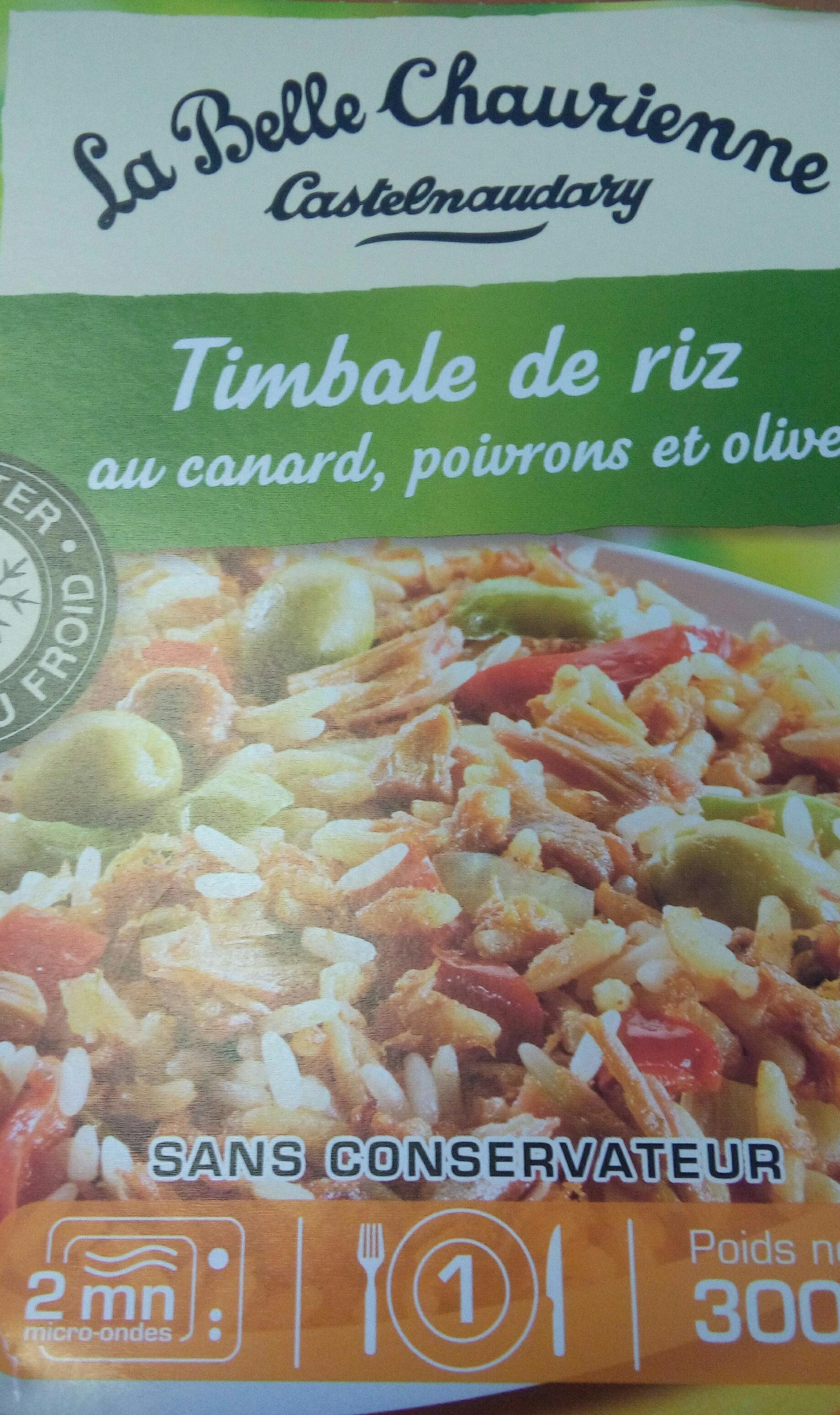 Timbale de riz au canard, poivrons et olives - Produit